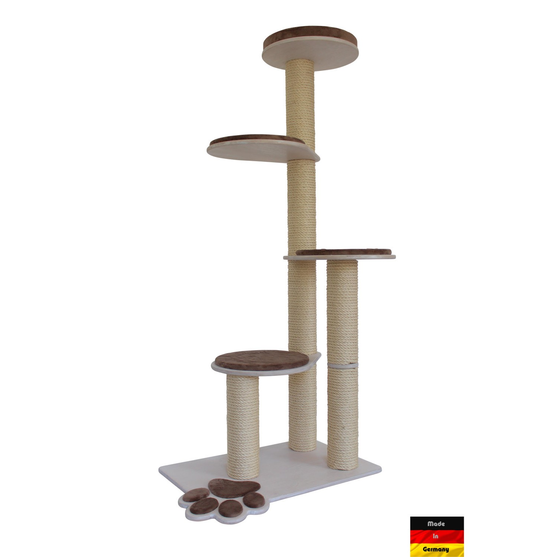 vollholz kratzbaum cat's fun 3, höhe 172 cm