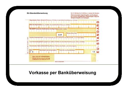 Vorkasse per Banküberweisung